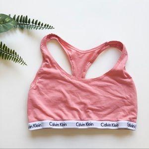 Calvin Klein Coral / Peach Sports Bra